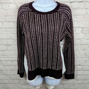 NWT New York & Company Mixed Media Sweater